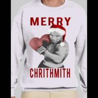 "MIKE TYSON ""MERRY CHRITHMITH"" CHRISTMAS SWEATER - Old Skool Shirts"