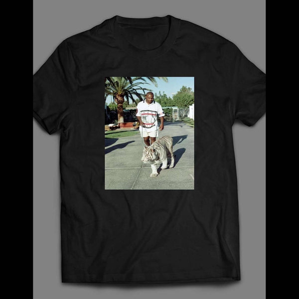 MIKE TYSON WALKING HIS TIGER T-SHIRT - Old Skool Shirts