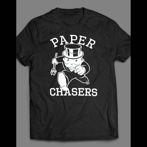 "MONOPOLY PARODY ""PAPER CHASERS"" T-SHIRT"