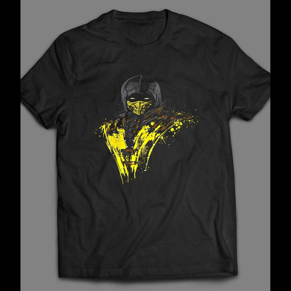 MORTAL KOMBAT'S SCORPION SPLASH ART CARTOON SHIRT - Old Skool Shirts
