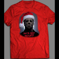 "MOVIE SERIAL KILLER MICHAEL MYERS ""YOU'VE BEEN NAUGHTY"" CHRISTMAS SHIRT - Old Skool Shirts"
