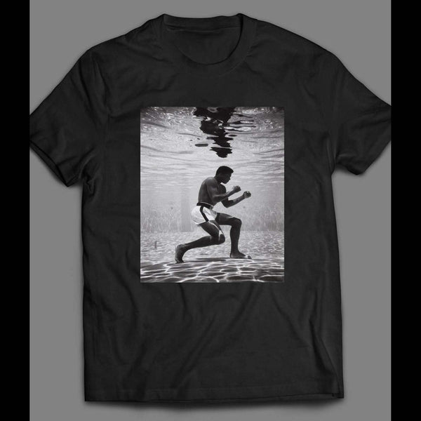 MUHAMMAD ALI UNDERWATER VINTAGE BOXING SHIRT - Old Skool Shirts