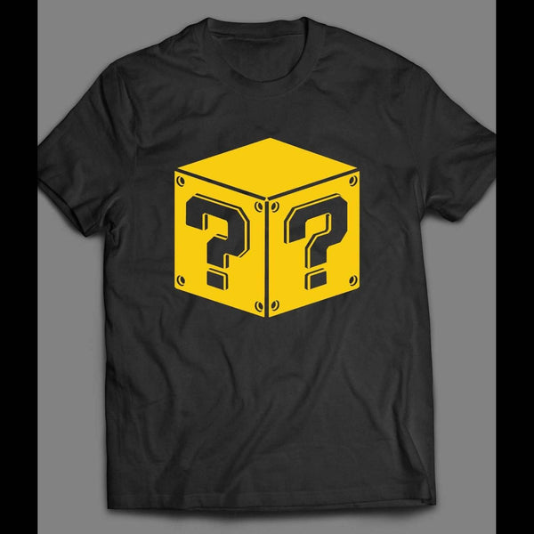 NINTENDO'S SUPER MARIO RETRO POWER UP BLOCK SHIRT - Old Skool Shirts