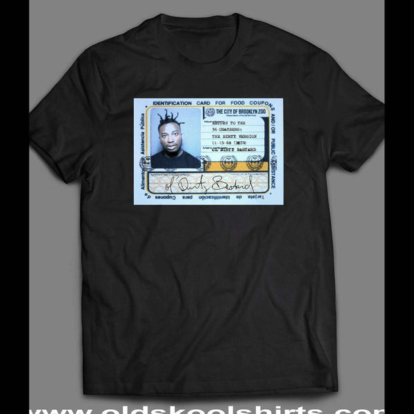 OL' DIRTY BASTARD (ODB) FOOD STAMP CARD SHIRT - Old Skool Shirts