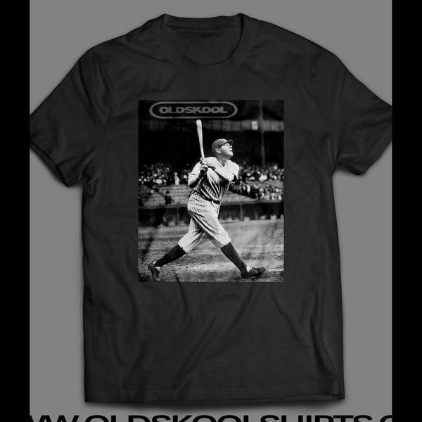 OLDSKOOL BABE RUTH AT BAT OLD TIME T-SHIRT