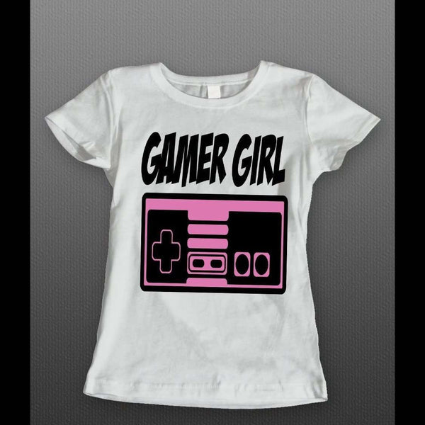 OLDSKOOL GAMER GIRL LADIES SHIRT - Old Skool Shirts