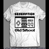 OLDSKOOL GENERATION GAMER CONTROLLER T-SHIRT - Old Skool Shirts