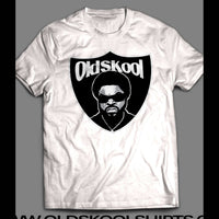 OLDSKOOL RAPPER ICE CUBE OAKLAND LOGO MASH UP T-SHIRT - Old Skool Shirts