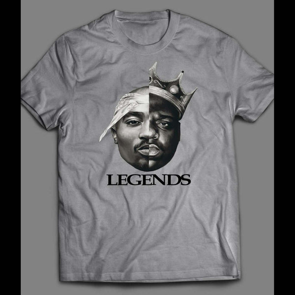 "OLDSKOOL RAPPERS TUPAC AND BIGGIE SMALLS ""LEGENDS"" ART T-SHIRT"