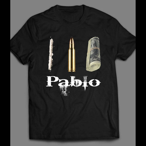 PABLO ESCOBAR DRUGS, POWER, AND MONEY T-SHIRT