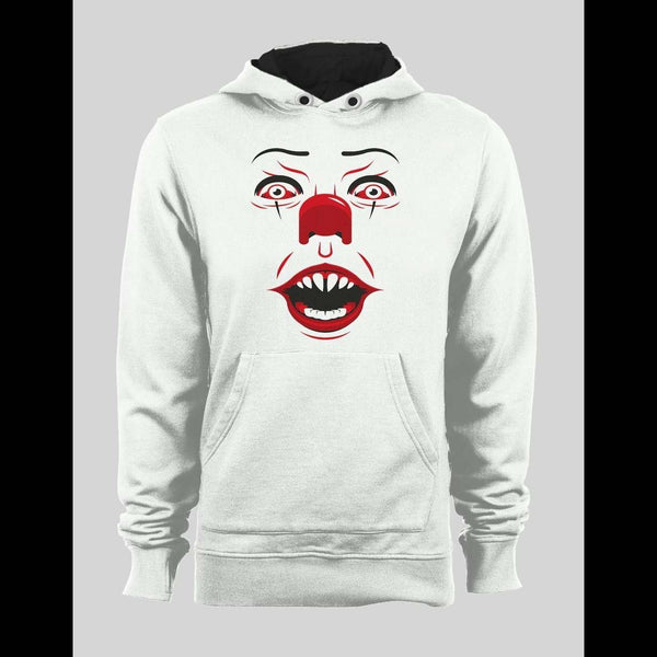 PENNYWISE KILLER CLOWN FACE WINTER PULL OVER HOODIE - Old Skool Shirts
