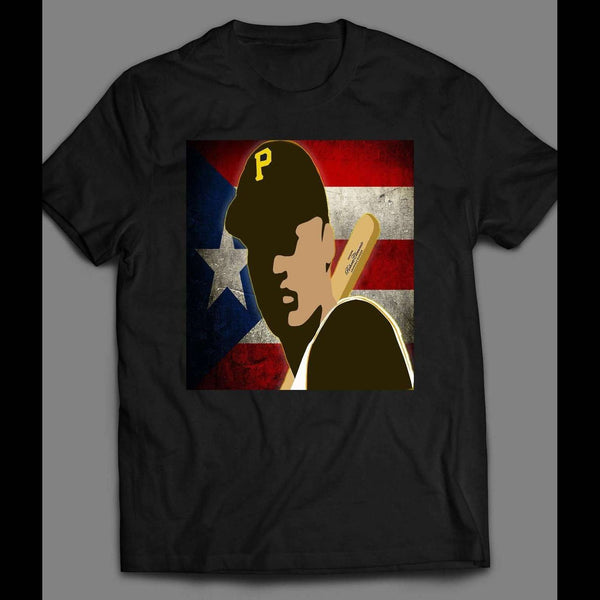 PIRATES ROBERTO CLEMENTE PUERTO RICO ART OLDSKOOL VINTAGE SHIRT - Old Skool Shirts