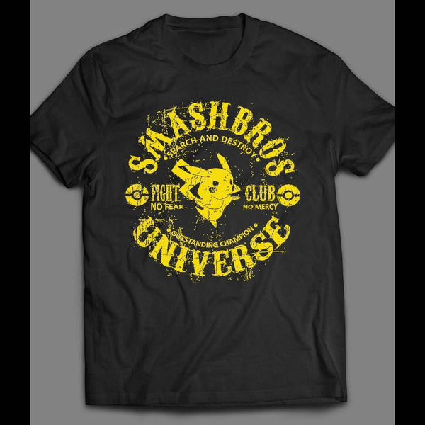 POKEMON, SMASH BROS FIGHT CLUB GAMER T-SHIRT - Old Skool Shirts