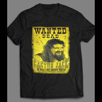 PRO WRESTLER CACTUS JACK (MICK FOLEY) WANTED POSTER T-SHIRT