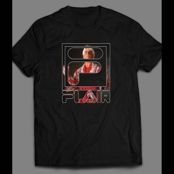 PRO WRESTLER RIC FLAIR FILA STYLE SHIRT - Old Skool Shirts