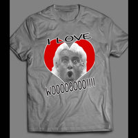 "PRO WRESTLER, RIC FLAIR ""I LOVE WOOO!!!"" VALENTINES DAY FUNNY T-SHIRT - Old Skool Shirts"