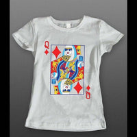QUEEN OF DIAMONDS SEXY LADIES SHIRT - Old Skool Shirts