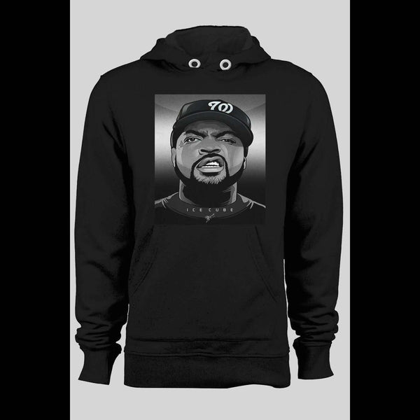 RAPPER ICE CUBE CUSTOM ART WINTER HOODIE - Old Skool Shirts