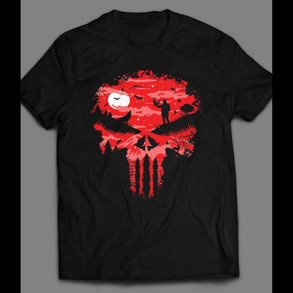 RED FOREST PUNISHER LOGO SHIRT - Old Skool Shirts