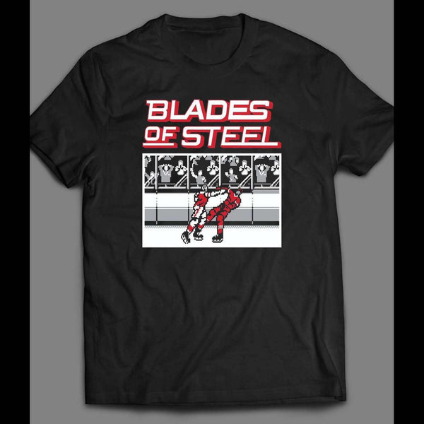 RETRO VIDEO GAME BLADES OF STEEL GAME ART SHIRT - Old Skool Shirts