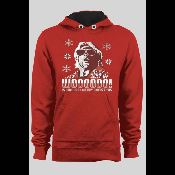 RIC FLAIR, WOOOOOO IS HOW I SAY MERRY CHRISTIMAS HOODIE - Old Skool Shirts