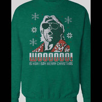 RIC FLAIR, WOOOOOO IS HOW I SAY MERRY CHRISTIMAS SWEATER - Old Skool Shirts