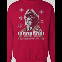 RIC FLAIR, WOOOOOO IS HOW I SAY MERRY CHRISTIMAS SWEATER