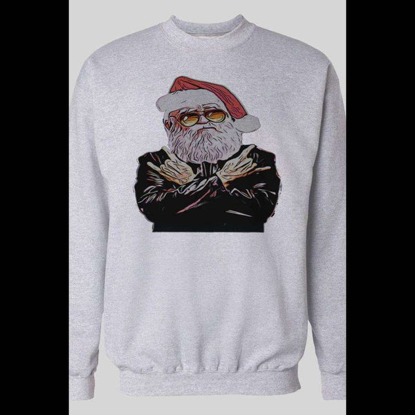 ROCKER SANTA MERRY CHRISTMAS WINTER SWEATSHIRT - Old Skool Shirts