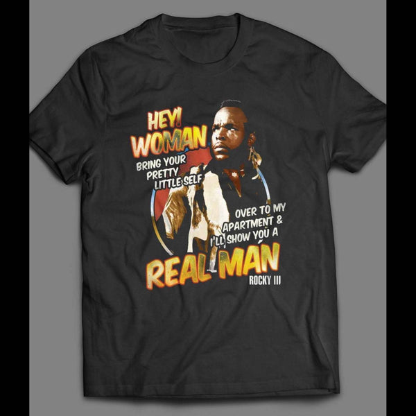 "ROCKY 3 CLUBBER LANG ""HEY WOMAN"" SHIRT - Old Skool Shirts"