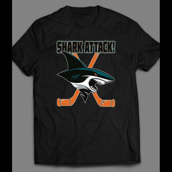 "SAN JOSE SHARKS ""SHARK ATTACK"" SHIRT - Old Skool Shirts"