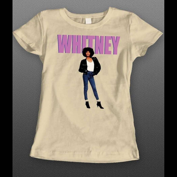 SINGER WHITNEY HOUSTON ART LADIES SHIRT - Old Skool Shirts