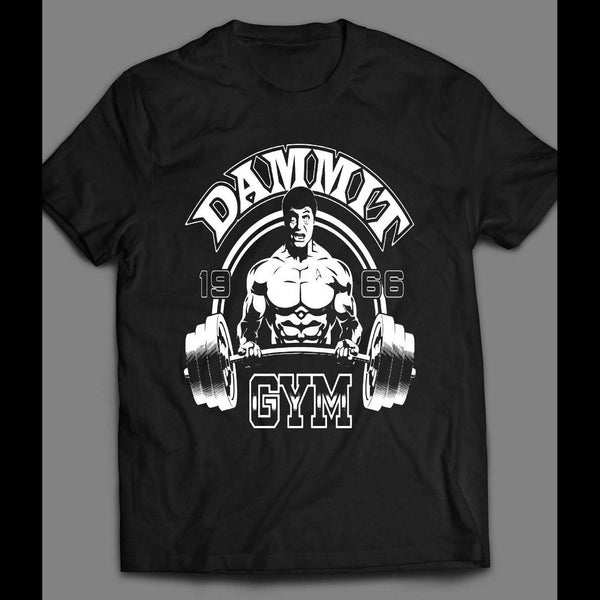 "STAR TREK'S DR. MCCOY ""DAMMIT GYM"" GYM T-SHIRT"