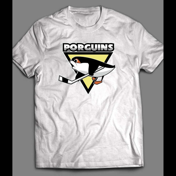 "STAR WARS PITTSBURG PENGUINS PARODY ""PORGUINS T-SHIRT"