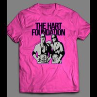 TAG TEAM CHAMPIONS THE HART FOUNDATION SHIRT - Old Skool Shirts