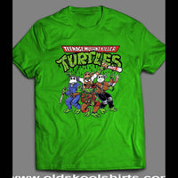 "TEENAGE MUTANT NINJA TURTLES ""HORROR MOVIE VILLAINS"" MASH UP SHIRT - Old Skool Shirts"