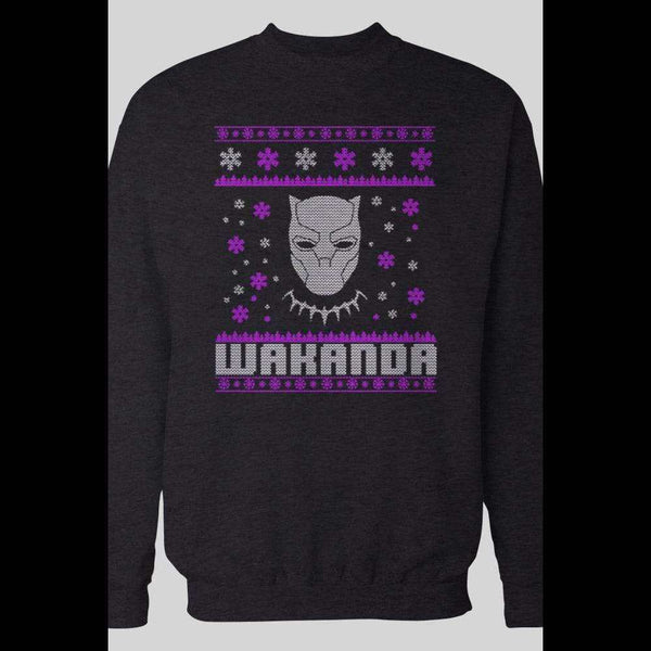 THE BLACK PANTHER WAKANDA UGLY CHRISTMAS SWEATER - Old Skool Shirts