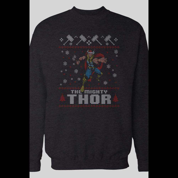 THE MIGHTY THOR UGLY CHRISTMAS SWEATER - Old Skool Shirts