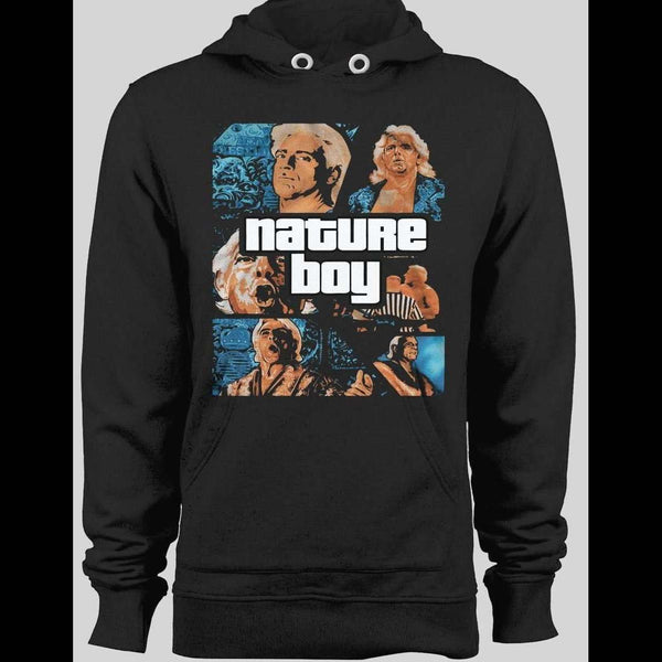 THE NATURE BOY RIC FLAIR WINTER HOODIE - Old Skool Shirts
