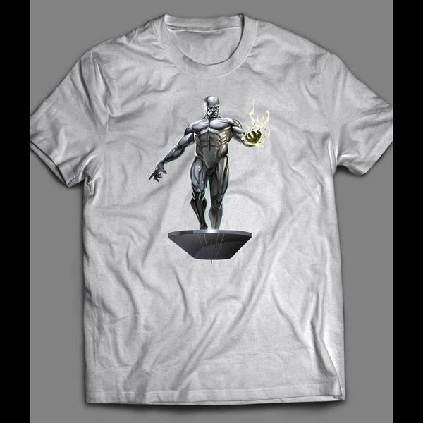 THE SILVER SURFER CUSTOM COMIC BOOK ART SHIRT - Old Skool Shirts
