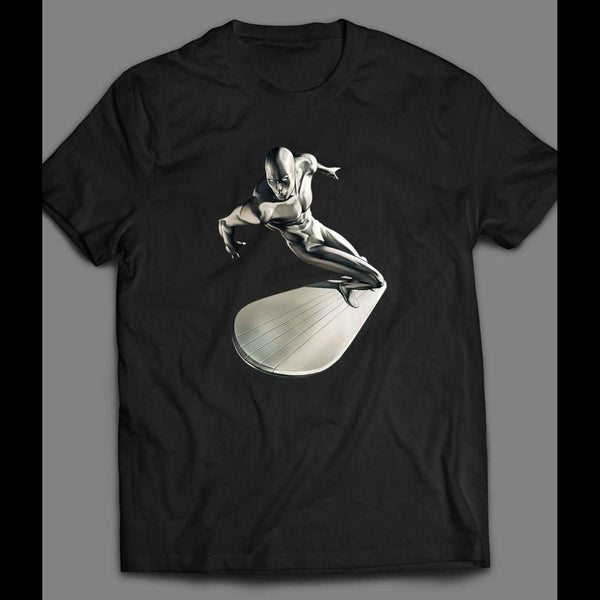 THE SILVER SURFER SPACE SURFING ART SHIRT - Old Skool Shirts