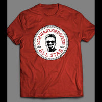 THE TERMINATOR SCHWARZENEGGAR ALL STAR SPORTS WEAR PARODY SHIRT - Old Skool Shirts