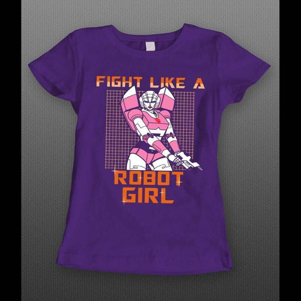 TRANSFORMER ARCEE, FIGHT LIKE A ROBOT GIRL SHIRT - Old Skool Shirts