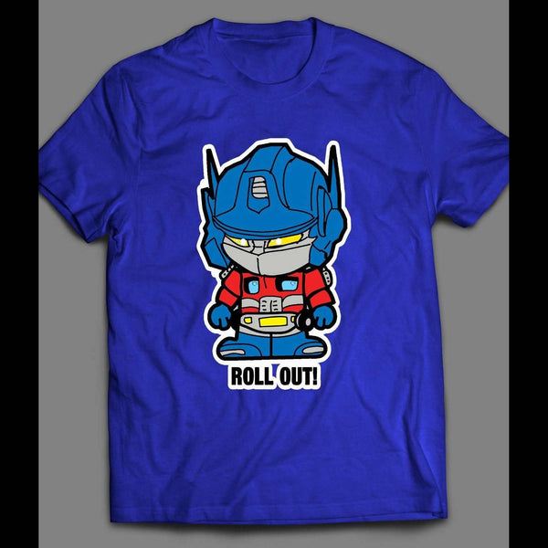 TRANSFORMER OPTIMUS PRIME ROLL OUT CARTOON SHIRT - Old Skool Shirts