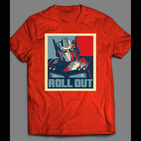 TRANSFORMER OPTIMUS PRIME ROLL OUT POP ART SHIRT - Old Skool Shirts
