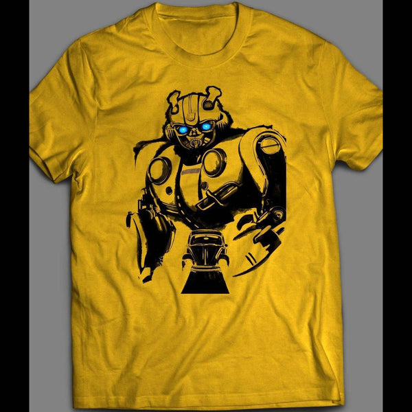 TRANSFORMERS AUTOBOT BUMBLE BEE MOVIE CUSTOM ART SHIRT - Old Skool Shirts