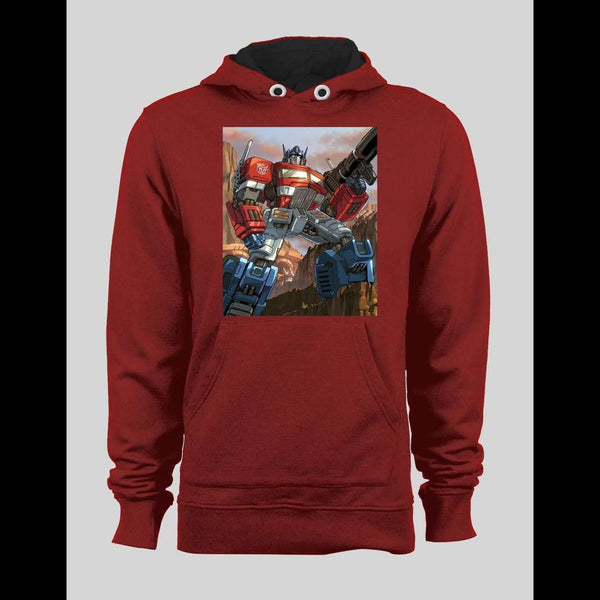 TRANSFORMERS AUTOBOTS LEADER OPTIMUS PRIME COMIC ART INSPIRED HOODIE / SWEATER