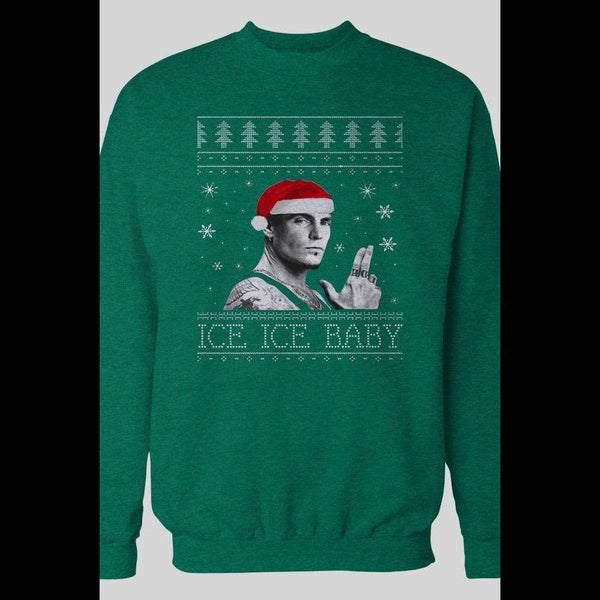 "VANILLA ICE ""ICE ICE BABY"" UGLY CHRISTMAS SWEATER"