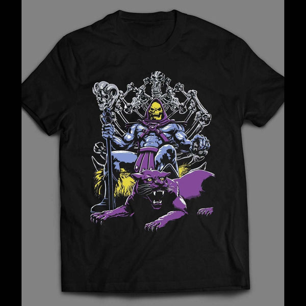 VINTAGE CARTOON MASTERS OF THE UNIVERSE SKELETOR AND PANTHOR T-SHIRT