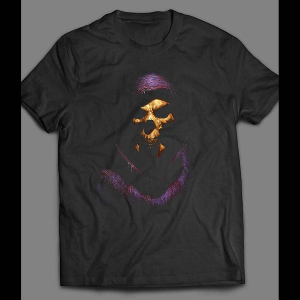 VINTAGE CARTOON MASTERS OF THE UNIVERSE SKELETOR DARKNESS PAINTING T-SHIRT