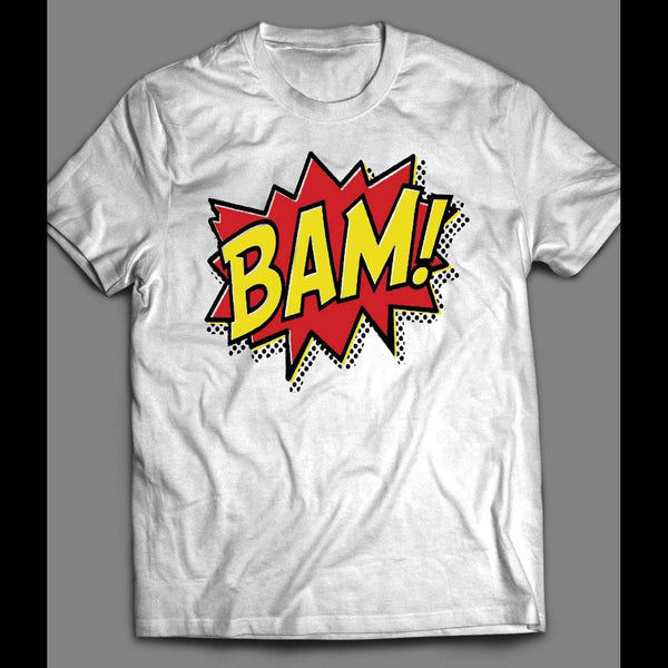 VINTAGE COLORFUL COMIC BOOK BAM! SHIRT - Old Skool Shirts